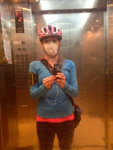 Biking to work: PM 2.5 Mask and all
