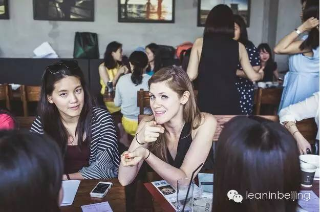 Goofing at Palms LA for the Lean In Second Anniversary Brunch (Image via Lean In Beijing)